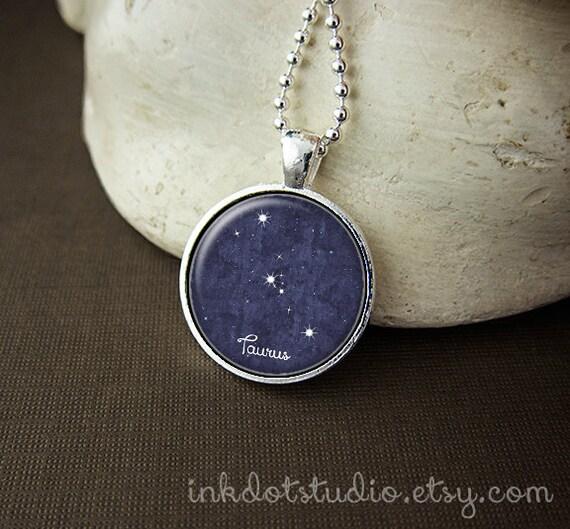 Taurus Constellation Necklace: Taurus Constellation Necklace Taurus Constellation Pendant