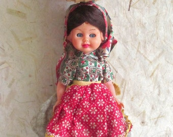 Portugal Extremadura costume doll, folk doll, vintage, European doll, vintagefr