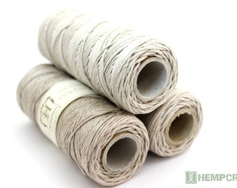 Hemp Twine, 1mm Natural 20lb Polished Hemp Craft Cord