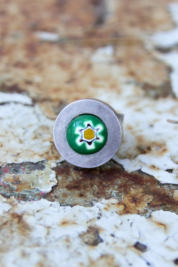Ring Vintage 60s Ring Hippie Millefiori FLOWER Ring Harmony Ball Company // Vintage Clothing by Tati Tati Style on Etsy