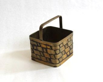 SALE! Vintage Brass Basket