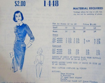 Modes Royale 1448 Womens 50s Business Dress With Label Bust 32