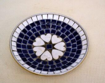 1960s Mosaic Tray with Hearts