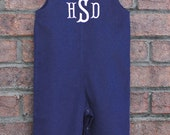Boys Monogrammed Navy Corduroy Longall