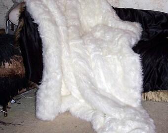 Snow White Luxury Faux Fur Throw