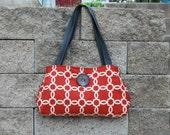Orange & gray Handbag Purse : Nutmeg