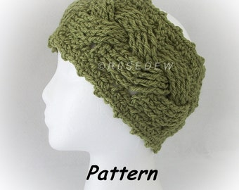 Instant Download for PDF CROCHET Pattern: Braided Ear Warmer with Straight or Picot Stitch Edge