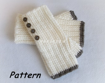 Instant Download to PDF CROCHET Pattern: Comfy Ribbed Fingerless Mitts