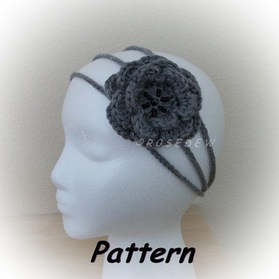 Instant Download to PDF CROCHET Pattern: Three-Strand Rose Headband