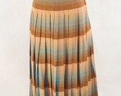 1950s Reversible Brown/Blue Pleated Skirt