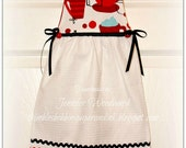Oven Apron KITCHEN HAND TOWEL in Cafe au lait theme