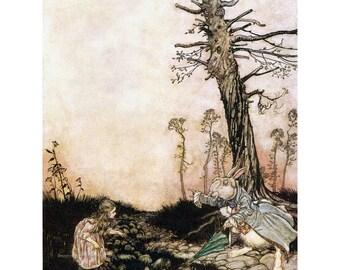 Alice in Wonderland Greeting Card - White Rabbit - Arthur Rackham