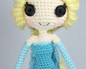 PATTERN: Snow Queen Elsa from Frozen Crochet Amigurumi Doll