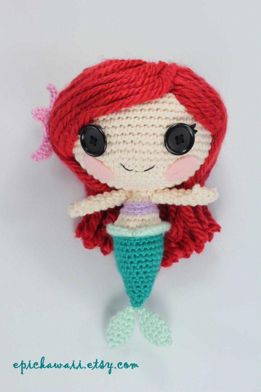Amigurumi Hawai Doll : Pattern mermaid crochet amigurumi doll by epickawaii on etsy