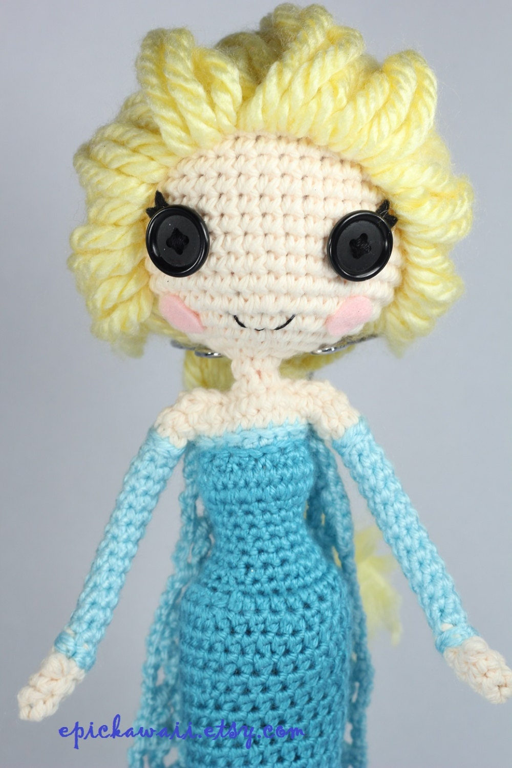 PATTERN: Elsa Crochet Amigurumi Doll by epickawaii on Etsy