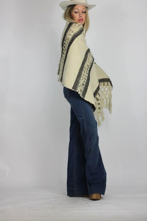 Desert Night Shawl Cozy Crochet Woven Neutral Blanket Wrap