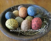 primitive cruddy spring eggs pattern