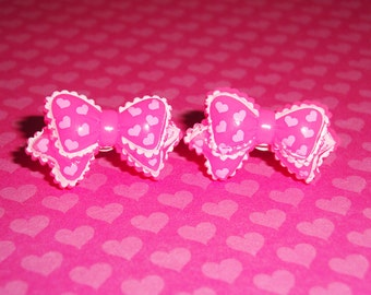 Ruffly Ribbon Earrings - choose one