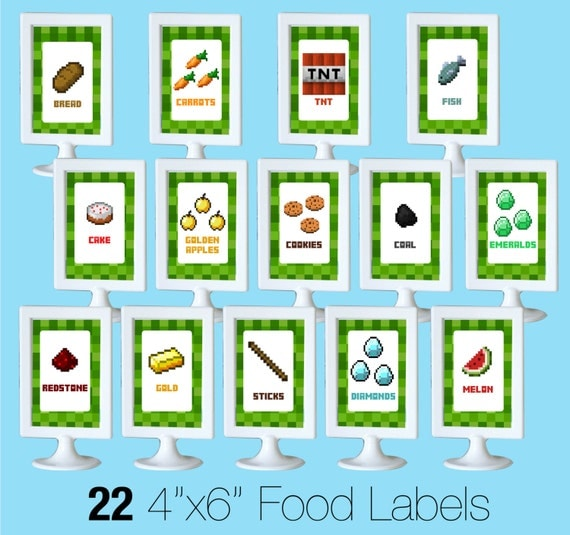Trust image throughout free printable minecraft food labels