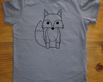 Fox Kids Shirt - Cute Fox - Boys Shirt / Girls Shirt Shirt - 8 Colors Available - T shirt Sizes 2T, 4T, 6, 8, 10, 12 - Gift Friendly
