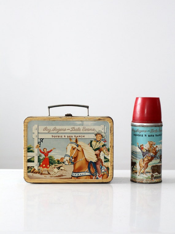 Free Ship 1950s Roy Rogers Amp Dale Evans Lunch Box With Thermos
