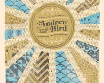 Andrew Bird Concert Poster, Saratoga, CA