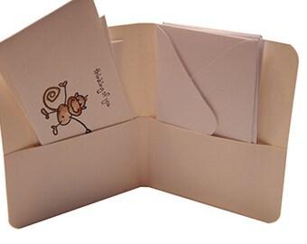 Thinking of You Notecard Set in Mini Portfolio