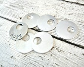 "GROSS PACK 7/8"" Offset Round WASHER Aluminum 20g Blank - 7/8"" Offset Round Washer Blank  - You Get 144 Blanks - Hand Stamped Jewelry Supply"