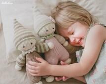PATTERN - Cuddly-baby - crochet pattern, amigurumi pattern, pdf