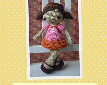 PATTERN - Sofia doll - crochet pattern, amigurumi pattern, pdf