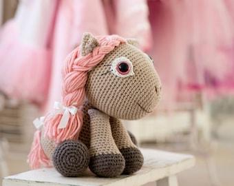 PATTERN Pony girl Leila - crochet pattern, amigurumi pattern, PDF