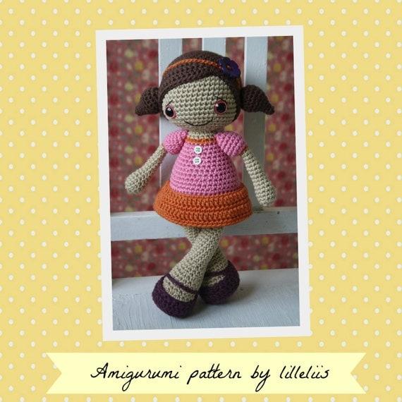 PATRÓN muñeca Sofia crochet patrón patrón de por lilleliis