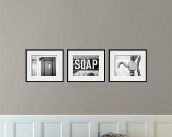 Bathroom Decor Set Of 3 Photographs Bathroom Art Set
