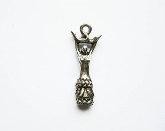 2 Goddess Charms in Silver Tone - C1043