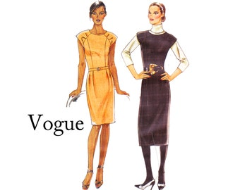 Very Easy Vogue 8531 fitted Dress Princess seams and cap sleeves Misses Sizes 14 16 18 20 22 Bust 36 38 40 42 44 UNCUT OOP Sewing Pattern