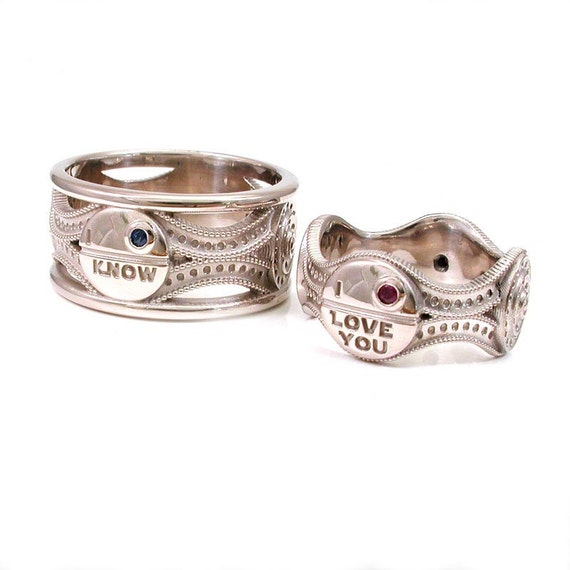 Star Wars Ring Set - I Love You - I Know - Palladium White Gold