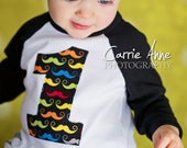 Little Mister Mustache Birthday Shirt, First Birthday, Second Birthday, Third Birthday, Mustache Birthday, Mustache Shirt, Number Shirt