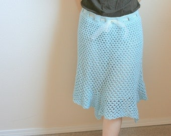 PDF DIGITAL PATTERN:Crochet Skirt Pattern,Womens Crochet Skirt, Blue Skirt,Womens Skirt Pattern,Woman Skirt Pattern,Womens Skirt Crochet