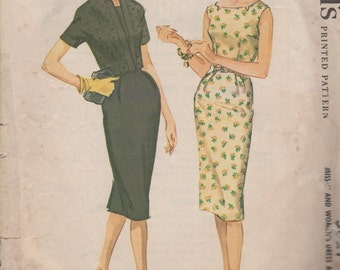 Bust 40-1961 Misses' Sheath Dress and Jacket McCall's 5821 Size 20