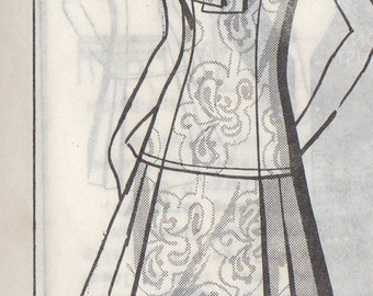 Bust 40-1977 Misses' Dress Mail Order Pattern 8304 Size 18  Waist 31 Hip 42