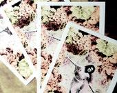 Fairy Art Postcards - Set of 4 Postcards - 'Fairy Bower' - Shabby Chic Stationery