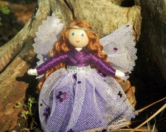 Fairy Doll -  Purple  Flower Fairy Doll - Bendy Doll - Tooth Fairy