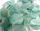 Teal, Pale Green, Sea Green, Seaglass, Jewelry Grade B, Large Lot, Craft Supplies, Size Variety