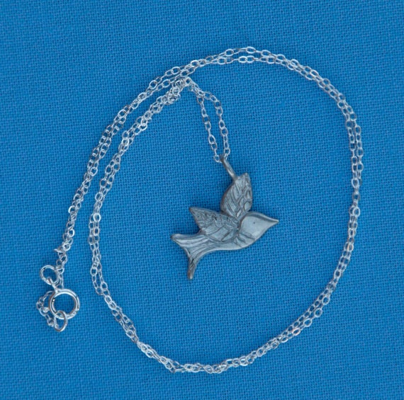 Silver Dove Charm Necklace