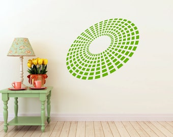 3D Equalizer Burst vinyl Wall DECAL Art, sticker art, room, home and business decor - yoga om floral bliss