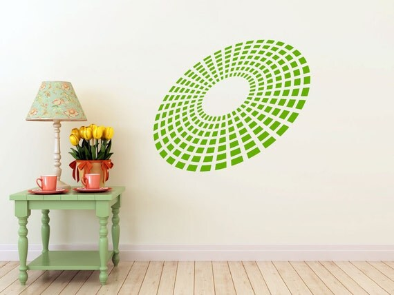 3D Equalizer Burst vinyl Wall DECAL Art, sticker art, room, home and business decor - yoga om floral bliss