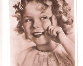Shirley Temple 20th century Fox star child star actress Vintage old unused postcard cute 1930's