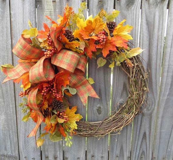 Halloween Wreath, Thanksgiving Wreath, Fall of the Year Wreath