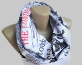 Book Scarf London scarf ,scarf book men scarf Infinity Scarf Spring Summer Women Fashion Accessories mothers day Gifts For Her senoaccessory
