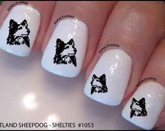 Sheltie Nail Decal Shetland Sheepdog  Dog Design Nail Art